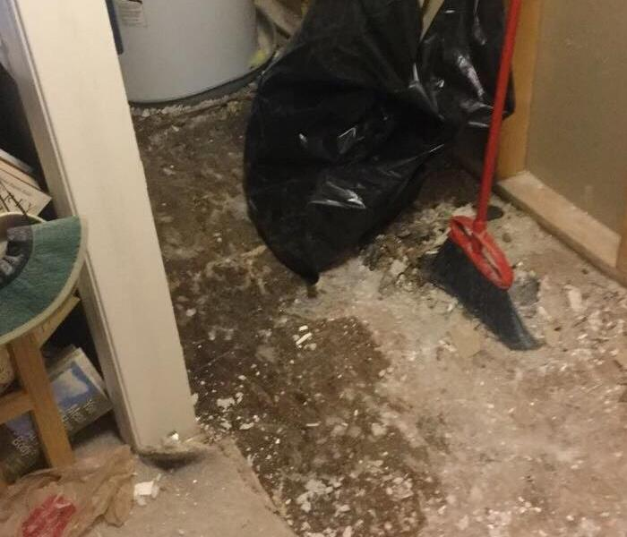 Hot water heater damage