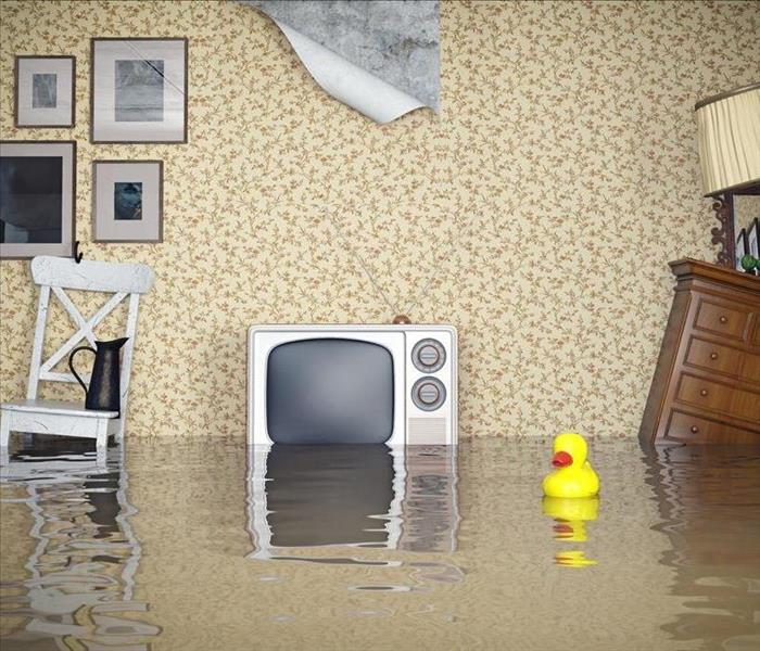 Image of a flooded room